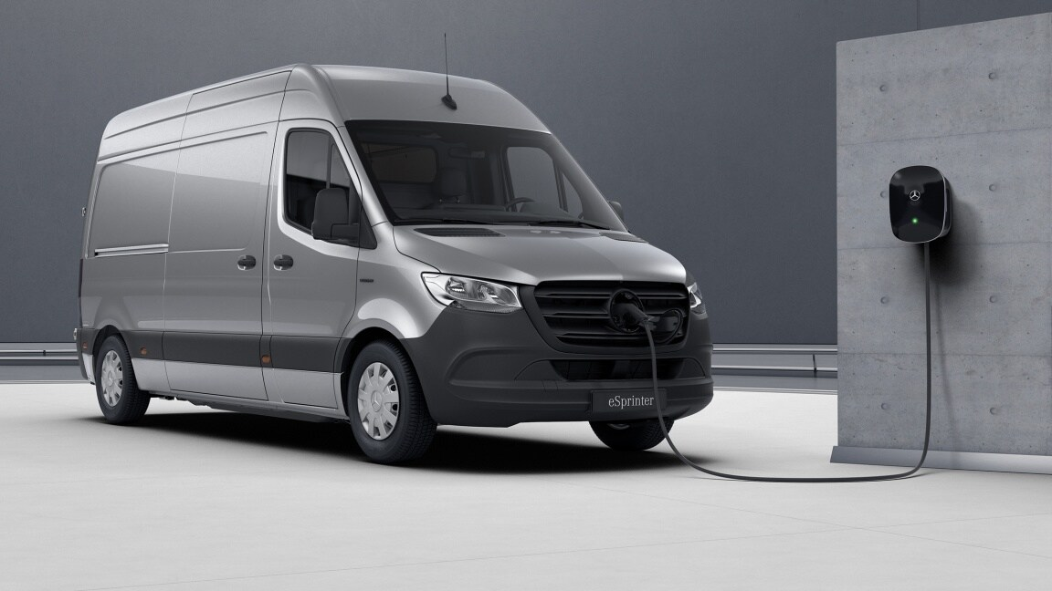 eSprinter fourgon, recharge AC 7,4 kW / recharge DC max. 20kW
